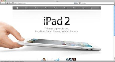Screenshot: Apple.com
